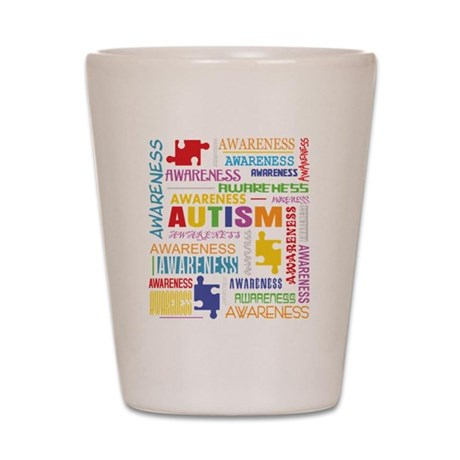 Autism Awareness Collage Shot Glass