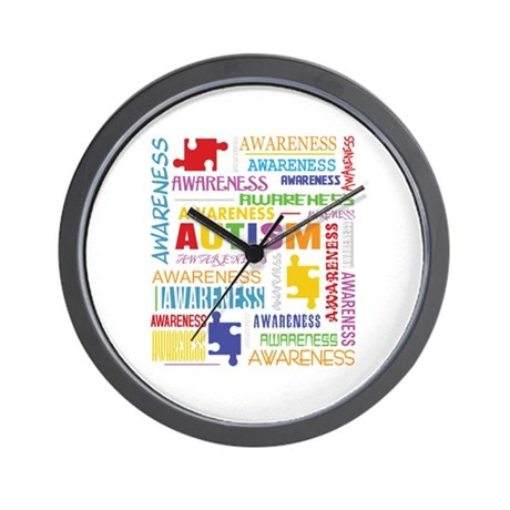 Autism Awareness Collage Wall Clock
