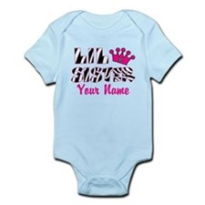 Little Sister Zebra Infant Bodysuit