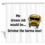 Karma Bus Shower Curtain
