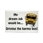 Karma Bus Rectangle Magnet (100 pack)
