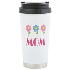 Mom Polka Dot Daisy Ceramic Travel Mug