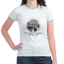 Ladies Ringer Shirt - Giants Causeway Design