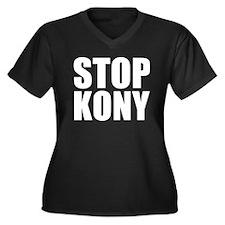 Stop Kony Women's Plus Size V-Neck Dark T-Shirt