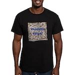 Afikomen Hunter Men's Fitted T-Shirt (dark)