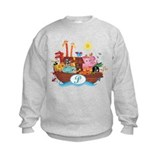 Letter P Initial Noah's Ark Sweatshirt