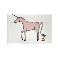 Unicorns Poop Rainbows Rectangle Magnet