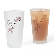 Unicorn Pegasus Lucky Drinking Glass