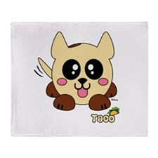 Taco Pudgie Pet Throw Blanket