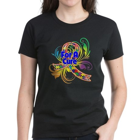 Autism For A Cure Women's Dark T-Shirt