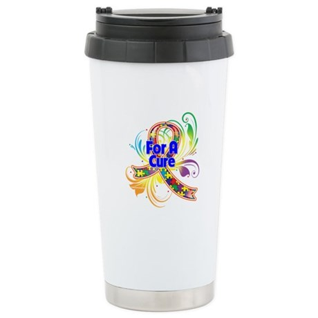 Autism For A Cure Ceramic Travel Mug