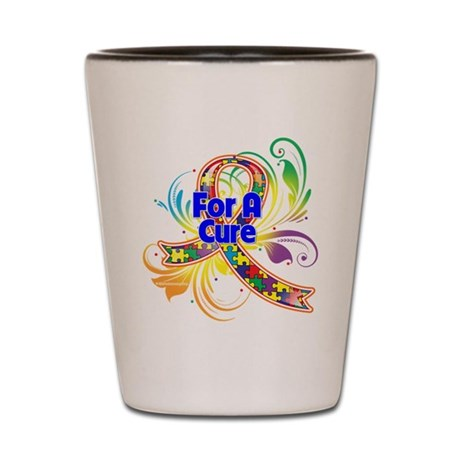 Autism For A Cure Shot Glass