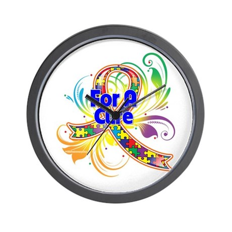 Autism For A Cure Wall Clock