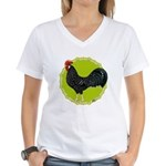 Ancona Rooster Women's V-Neck T-Shirt
