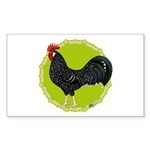 Ancona Rooster Sticker (Rectangle 50 pk)