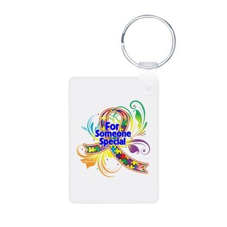 Autism For Someone Special Aluminum Photo Keychain