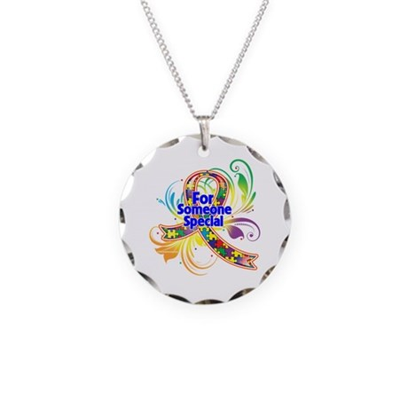 Autism For Someone Special Necklace Circle Charm