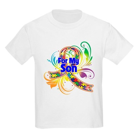 Autism For My Son Kids Light T-Shirt