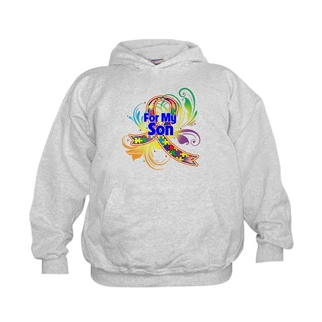 Autism For My Son Kids Hoodie