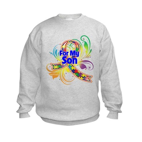 Autism For My Son Kids Sweatshirt