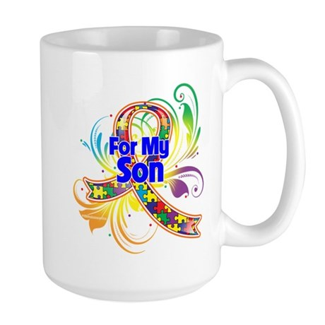 Autism For My Son Large Mug