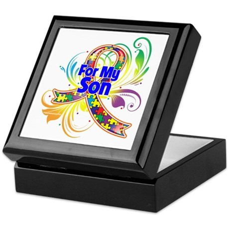 Autism For My Son Keepsake Box