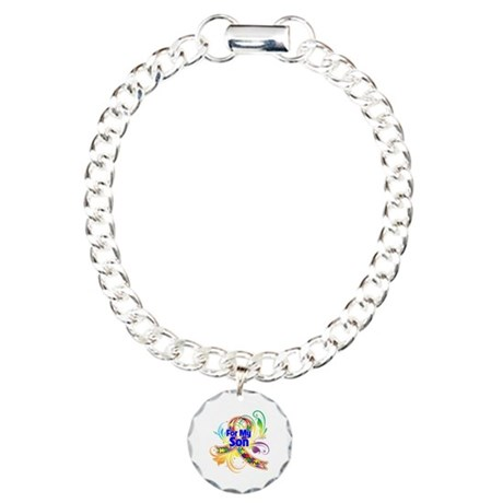 Autism For My Son Charm Bracelet, One Charm