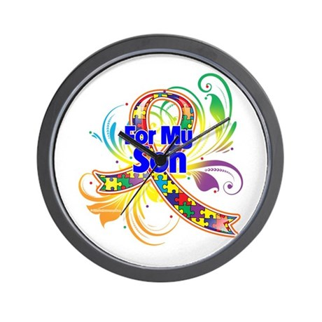 Autism For My Son Wall Clock