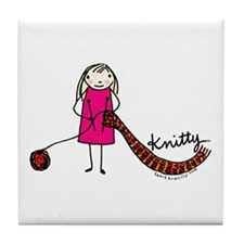 Tania Howells for Knitty Tile Coaster