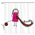 Tania Howells for Knitty Shower Curtain