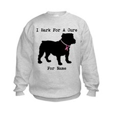 Bulldog Personalizable Bark For A Cure Sweatshirt