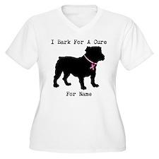 Bulldog Personalizable Bark For A Cure T-Shirt