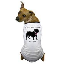 Bulldog Personalizable Bark For A Cure Dog T-Shirt