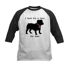 Bulldog Personalizable Bark For A Cure Tee
