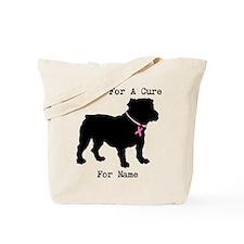 Bulldog Personalizable Bark For A Cure Tote Bag