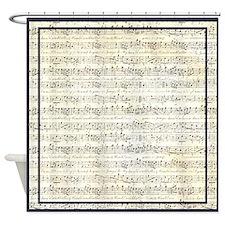Musical Score Shower Curtain