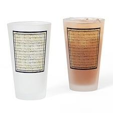 Musical Score Drinking Glass