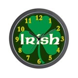 Irish Shamrock Wall Clock