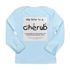 Big Sister to a Cherub Long Sleeve Infant T-Shirt