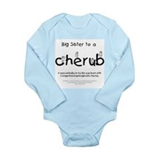 Big Sister to a Cherub Long Sleeve Infant Bodysuit
