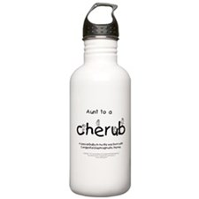 Aunt to a Cherub Water Bottle