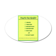 Transfer Day Checklist 22x14 Oval Wall Peel