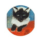"Siamese Kitten by Elsie 3.5"" Button"