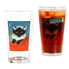 Siamese Kitten by Elsie Drinking Glass