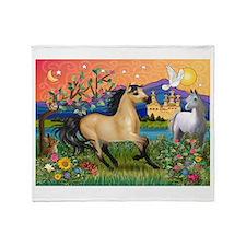 Fantasy Land Buckskin Horse Throw Blanket