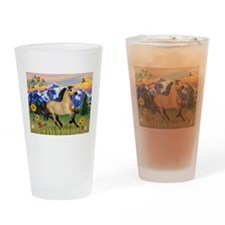 Mt. Country Buckskin Horse Drinking Glass