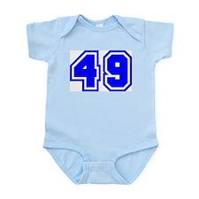 Varsity Uniform Number 49 (Blue) Infant Creeper