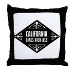 California Girls Kick Ass Throw Pillow