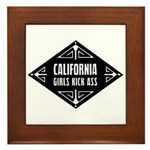 California Girls Kick Ass Framed Tile