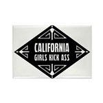 California Girls Kick Ass Rectangle Magnet